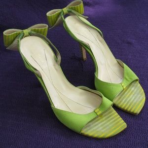 Kate Spade Lime Green/Yellow Stripe with Bow
